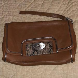 BCBG Max Azria leather clutch